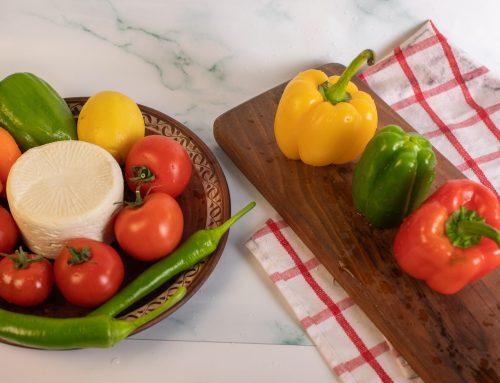 Receta rollitos pimientos tricolor
